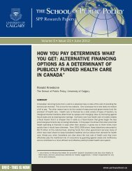 how you pay determines what you get - School of Public Policy