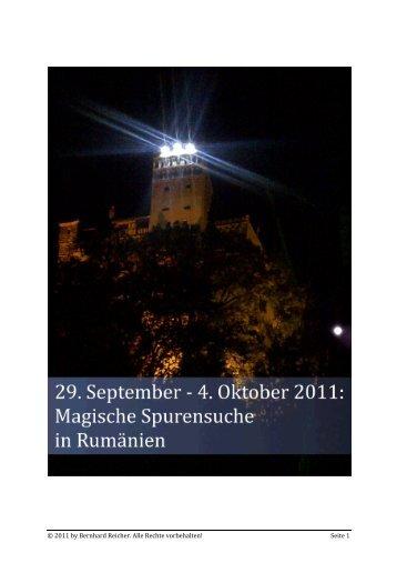 Magische Spurensuche in Rumänien - Bernhard Reicher
