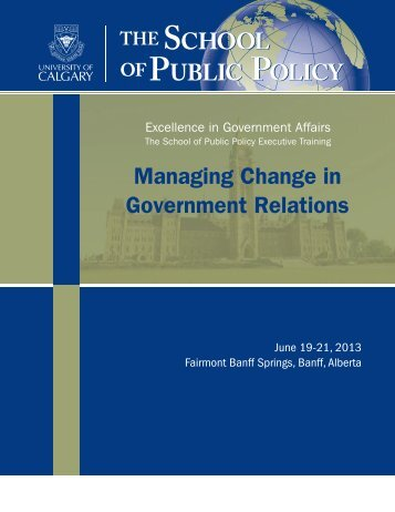 Managing Change in Government Relations