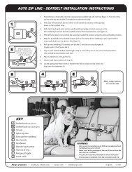 auto zip line - seatbelt installation instructions key - Kurgo