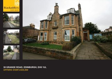 38 GRANGE ROAD EDINBURGH EH9 1UL OFFERS OVER £425,000