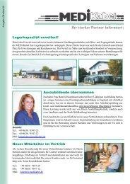 Ihr starker Partner informiert: - Medi Kabelhandels GmbH