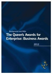 The Queen's Awards for Enterprise Business Awards