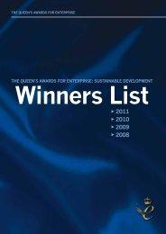 the queen's awards for enterprise: sustainable development - Gov.UK