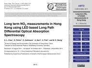 Long term NO2 LP-DOAS measurements in Hong Kong - AMTD