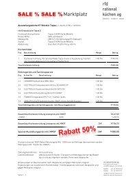 Detailbeschrieb (pdf) - rfd rational küchen ag