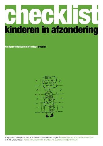 checklist kinderen in afzondering