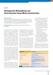 Biologische Behandlung von Ovarialzysten ... - Tierarztpraxis Zinke