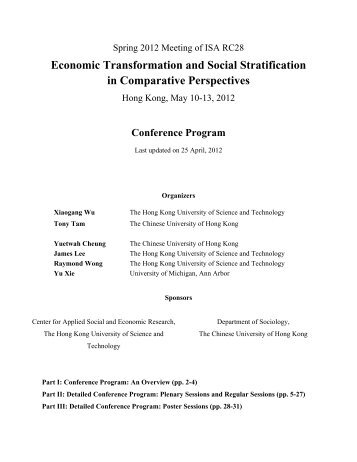 Economic Transformation and Social Stratification in Comparative ...