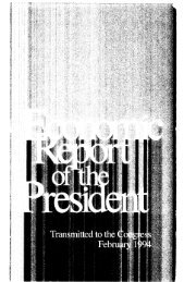 Economic Report of the President 1994 - The American Presidency ...