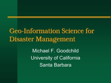 Geo-Information Science for Disaster Management