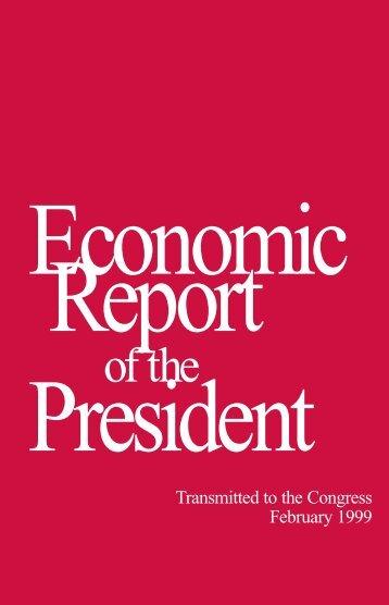 Economic Report President