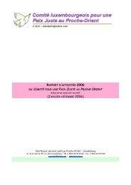 rapport d'activités 2006 du comité pour une paix juste au proche orient