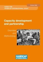 Capacity development and partnership