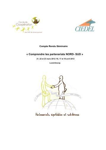 « Comprendre les partenariats NORD- SUD »