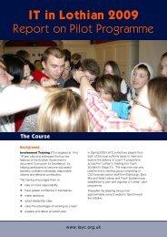 IT in Lothian 2009 Report on Pilot Programme