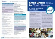 Small Grants for Youth Groups