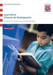 Lese-Info 8: Deutsch als Zweitsprache - Bildungsserver Hessen ...
