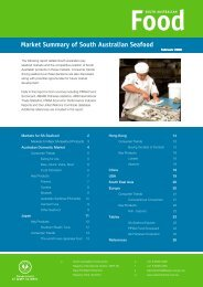 Market Summary of South Australian Seafood - PIRSA