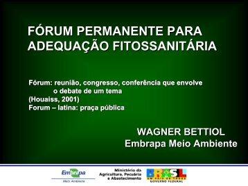 FÓRUM PERMANENTE PARA ADEQUAÇÃO FITOSSANITÁRIA