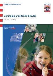 Ganztägig arbeitende Schulen - Ganztägig Lernen - Hessen
