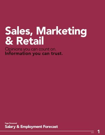 Sales, Marketing & Retail Salary & Employment ... - Page Personnel