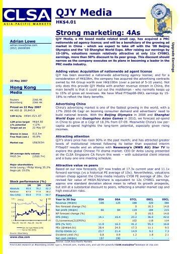 Qin Jia Yuan Media Services, Strong marketing: 4As