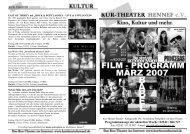 Flyer Kinoprogramm März 2007