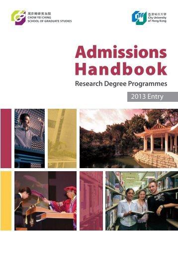 Admission Handbook - City University of Hong Kong