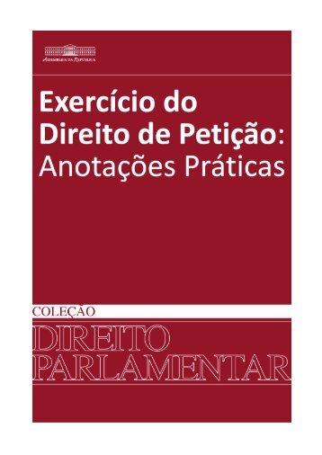 Exercício do Direito de Petição - Assembleia da República
