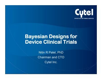 CDRH and Bayesian Trials