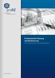 Professionelle Planung und Realisierung von ... - proRZ