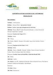 Confira a programação do evento - Fórum Nacional de Educação