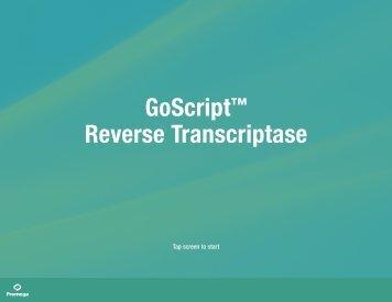 GoScript Reverse Transcriptase Interactive Brochure ... - Promega