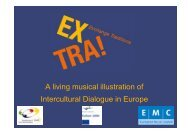 Intercultural Dialogue in Europe