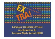 coordinated by the European Music Council (EMC)