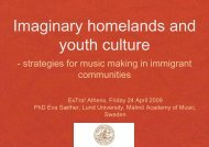 Imaginary homelands and youth culture