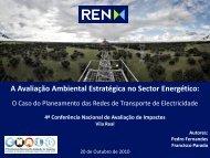 A Avaliação Ambiental Estratégica no Sector Energético