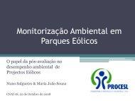 Monitorização Ambiental em Parques Eólicos