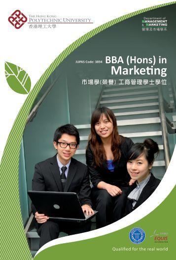 (Hons) in Marketing - The Hong Kong Polytechnic University