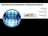 Envolvimento das Comunidades e Avaliação de Impactes
