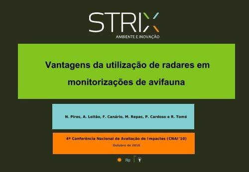 Vantagens da utilização de radares em monitorizações de avifauna