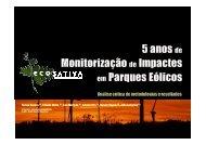 Cinco Anos de Monitorização de Impactes em Parques Eólicos - APAI