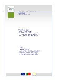 RELATÓRIOS DE MONITORIZAÇÃO