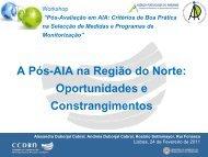 A Pós-AIA na Região do Norte: Oportunidades e ... - APAI