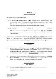 ANEXO III - Minuta de Contrato 022-2013 - DME Distribuição ...