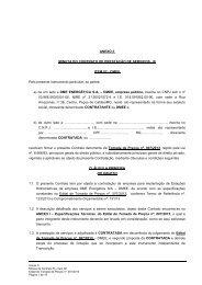 ANEXO II - Minuta de contrato DMEE - ITEM 02 - DME Distribuição ...