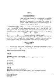 ANEXO X-Minuta contrato-uniforme - DME Distribuição - Poços de ...