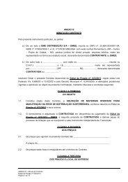 ANEXO III- Minuta contrato - DME Distribuição - Poços de Caldas