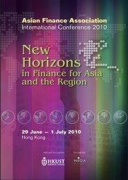 Asian Finance Association International Conference 2010 ...
